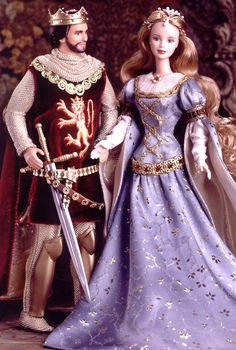 Ken® and Barbie® Doll as Camelots King & Queen, Arthur and Guinevere | Barbie Collector