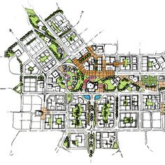 Urban Design Concept, Urban Design Diagram, Urban Design Plan, Home Design Plans, Concept Models Architecture, Architecture Drawings, Architecture Plan, Landscape And Urbanism, Landscape Concept