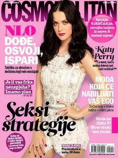 Katy on the cover of Croatia Cosmopolitan April 2012