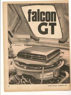 Original Vintage 1971 Ford Falcon GT Australian 3 Page Feature | eBay