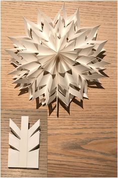 Paper star Made from Paper bag - DIY Schule Diy Paper Bag, Paper Bag Crafts, Paper Paper, Paper Snowflakes, Paper Stars, Christmas Snowflakes, Paper Bag Flowers, Christmas Paper, Diy Weihnachten