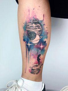 51 Wunderschöne Aquarell-Tattoo-Ideen diy tattoo - diy tattoo images - diy tattoo i Unique Tattoos, Cute Tattoos, Beautiful Tattoos, Body Art Tattoos, Small Tattoos, Sleeve Tattoos, Outer Space Tattoos, Circle Tattoos, Feminine Tattoos