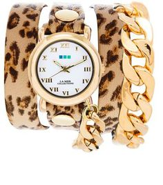 My custom designed watch from La Mer Collections. Leopard & Gold, feeling sassy! #CUSTOMLAMER