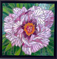 Peony - Long Life  by Jean Loney  ~  Maplestone Gallery  ~  Contemporary Mosaic Art