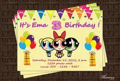 Powerpuff Girls Birthday Party Invitation  Digital File by mimseyy, $10.00