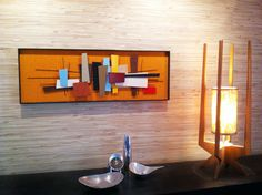 NEW RELEASE  Mid Century Modern Art Abstract by Jetsetretrodesign, $395.00