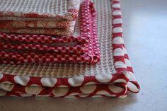 crazy mom quilts: dish towels & cloths tutorial