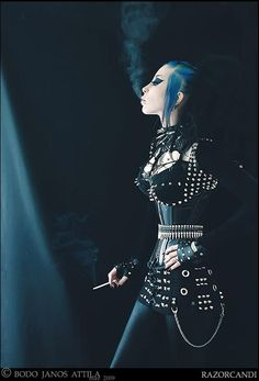 This outfit is to die for!! #RazorCandi #Goth #Deathrock