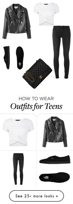 """""""Untitled #201"""" by fashion24x7 on Polyvore featuring New Look, Frame Denim, Acne Studios, Vans and Chanel"""