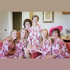 "The Little Lovebird on Instagram: ""Pretty florals for this bridal party. Wearing the rose cotton pink and ivory robes  Order>>>www.thelittlelovebird.uk"""