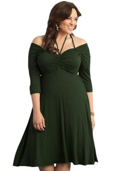 Army Green Enticing Tie Off-shoulder Plus Size Midi Dress Plus Size Maxi  Dresses e9f63e09848a