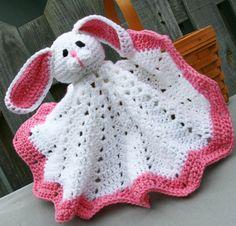 Bunny afghan blankie blanket buddie crochet in by Loopedwithlove4U, $34.00