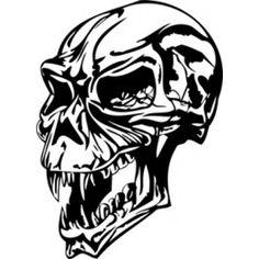Ancient Vampire Skull Decal