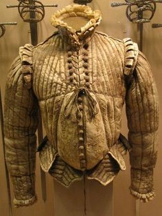 Fencing Doublet, Leather, silk, linen, cotton. ca. 1580. The Metropolitan Museum of Art.