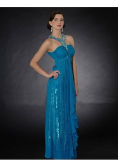 Chiffon Round Straps with Beads Heavy Beaded Line Elegant Flaps Full Length Mother Dress