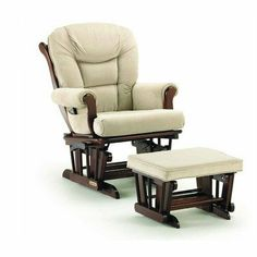 Shermag 37779CB.05.1041 Glider rocker and Ottoman - Beige Micro-Fiber with Cabernet Frame by Shermag. Save 46 Off!. $354.96. Extra Plush Easy-Care Micro-Fiber Fabric Cushioned Seat And Back. Matching Ottoman, will provide Comfort and Many Years of Gliding Pleasure.. Sleigh Style Matching Chair and Ottoman Set. Solid Hardwood Construction. Padded Arms, with Special Pocket under Arm Pad. Shermag Glider with Ottoman Spoil yourself with a product you'll love for a lifetime - the Shermag G...