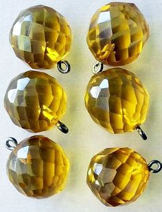"""Six chunky ¾"""" translucent yellow bakelite facetted ball buttons. Large Buttons, Vintage Buttons, Button Art, Sewing A Button, Vintage Yellow, My Favorite Color, Vintage Images, Antiques, Awesome"""