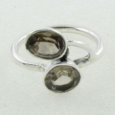 SMOKY QUARTZ STONE PRECIOUS DESIGN 925 STERLING SILVER RING #SilvexImagesIndiaPvtLtd #Statement