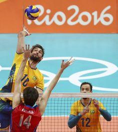 Brasil x Rússia semifinal vôlei masculino Rio 2016