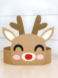 Reindeer Headband Craft For Christmas Simple and Fun Rudolph the Red Nosed Reindeer craft for kids. This free printable reindeer headband craft is great for toddlers, preschool and kindergarten children. Reindeer Headband Craft For Christmas Kids Crafts, Christmas Crafts For Toddlers, Toddler Crafts, Preschool Crafts, Kids Christmas, Holiday Crafts, Preschool Kindergarten, Christmas Cookies, Reindeer Christmas