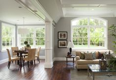 I love the molding dividing these rooms!