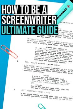 This is a complete guide going from how to write a script to forging a career in the film industry. I will also link to the best resources out there for upcoming screenwriters so that you have everything you need all in one place. Writing A Movie Script, Writing A Book, Writing Tips, Fiction Writing, Short Film Scripts, Movie Scripts, Short Film Stories, Short Films, Filmmaking Quotes