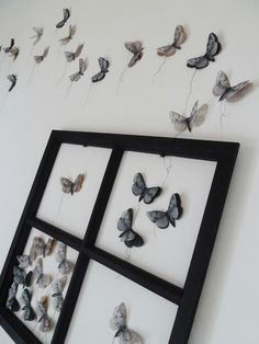 Mariposa papel DIY reciclar Recycled old papers Butterflies decoracion pared