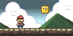 My take on Super Mario for Pixel Dailies…