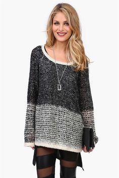 Cute. I'd probably wear something a little more, um, opaque underneath the sweater, however...