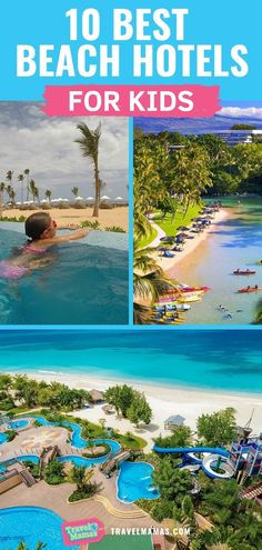 10 Best Beach Hotels for Kids According to Family Travel Experts! 10 Best Beach Hotels for Kids According to Family Travel Experts! Looking for a dreamy beach hotel for families? You'll love this list of beachfront resorts and hotels! Bora Bora, Best Family Vacations, Family Travel, Vacation Ideas For Families, Family Summer Vacation Ideas, Family Resorts In Florida, Us Beach Vacations, Florida Hotels, Destin Florida