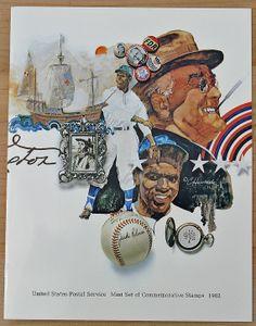 United States Postal Stamps 1982 by SeaGlassPrimitives on Etsy, $38.00