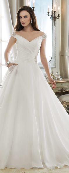 Sophia Tolli off the shoulder wedding dress #weddingdress #weddingdresses #sophiatolli