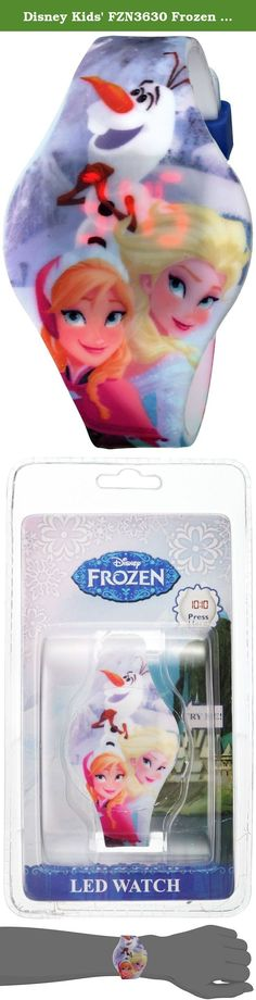 Disney Kids' FZN3630 Frozen Anna and Elsa Watch With Graphic Band. A wonderful LED digital watch with blue Frozen printed strap. Professional watch brand, the craftsmanship, ingenuity of design allows you to show Disney charm.