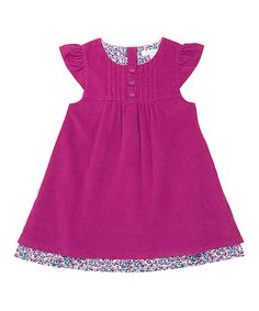 This Raspberry Corduroy Cap-Sleeve Dress - Infant, Toddler & Girls by JoJo Maman Bébé is perfect! #zulilyfinds