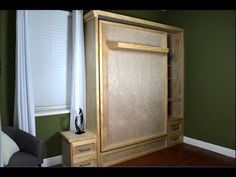 In this video I show how I made a custom Murphy bed for my office space. Using Boat Seat Swivel Hardware - http://amzn.to/1WphG4b T Nuts -http://amzn.to/1VLD...