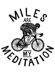 Miles are my Meditation (Grey)