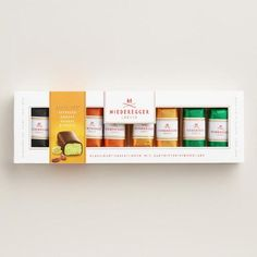 One of my favorite discoveries at WorldMarket.com: Niederegger Assorted Mini Chocolate and Marzipan Bars