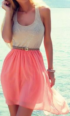 Pretty Pink Dress Outfit for Summer