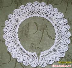 Crochet Collar Pattern, Col Crochet, Crochet Lace Collar, Crochet Cord, Crochet Borders, Irish Crochet, Crochet Baby, Christmas Crochet Patterns, Irish Lace