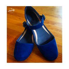 blue suede maryjanes