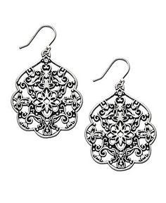Lucky brand earrings silver tone filigree drop all for Macy s lucky brand jewelry