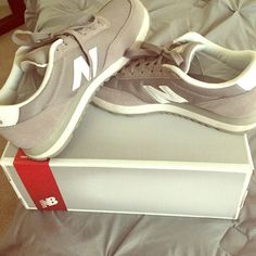 New balance women sneakers Comfortable, light gray New Balance Shoes Athletic Shoes