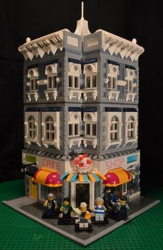 Not only is the building beautiful there's info on how to create striped wall paper with LEGO.