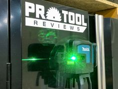 If you've been holding out for a lithium-ion cross-line laser, the Makita green cross-line laser level is one of the most complete packages. Cordless Tools, Makita, Power Tools, Line, Layout, Green, Fishing Line, Page Layout, Electrical Tools