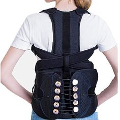 Posture Corrector For Men, Sitting Posture, Braces, Back Pain, Diving, Bodybuilding, Color Black, Belt, Detail