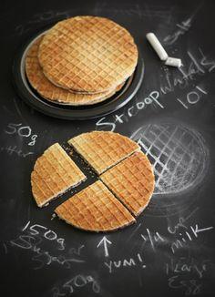 Sprinkle Bakes: Homemade Stroopwafels Waffle Cone Maker, Waffle Cone Recipe, Waffle Cones, Dessert Blog, Dessert Crepes, Waffle Recipes, Cookie Recipes, Best Stroopwafel Recipe, Stroopwaffles Recipe