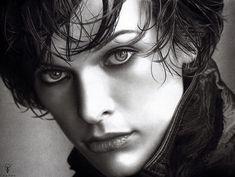 Milla Jovovich... pencil art