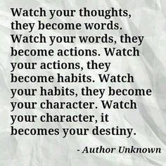 [Poetic Cognitive Behavioral Therapy] I think this would be a good verbal prompt to making the message visual. Great Quotes, Quotes To Live By, Inspirational Quotes, Motivational Quotes, Amazing Quotes, Today Quotes, Me Quotes, Quotable Quotes, Watch Your Words