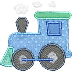 Train Engine Applique Embroidery Machine Design by HappyApplique