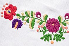 """The designs in this pattern set add unique touches of folksy, colorful exuberance to blouses, home textiles and accessories. They are inspired by the embroidery seen most often on Hungarian peasant blouses both vintage and modern, and are yours to use in creating your own bit of folklore. Designs range in height from 1"""" to 14"""" and can be mixed and matched to create unique combinations. With this pattern set, you can make your own bit of Hungarian folk art – Read More...→"""